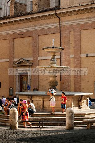 Piazza Madonna dei Monti in the region of Monti in the historic centre of Rome, Italy