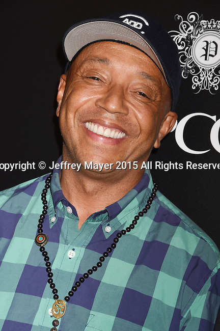 BEVERLY HILLS, CA - SEPTEMBER 02: Entrepreneur Russell Simmons arrives at the premiere of Screen Gems' 'The Perfect Guy' at The WGA Theater on September 2, 2015 in Beverly Hills, California.