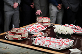 McDonald's and Chick fil-A food is served as United States President Donald J. Trump welcomes the 2018 Division I FCS National Champions: The North Dakota State Bison in the State Dining Room of the White House on March 4, 2019 in Washington, DC. <br /> Credit: Oliver Contreras / Pool via CNP