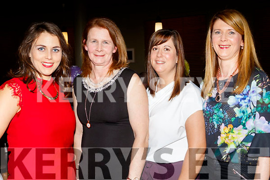 L-R Amanda Jameson, Julia baker, Paula Dineen with Mary Peevers enjoying the Kingdom Veteran, Vintage&Classic Car Club annual social in the Ballyroe Heights hotel, Tralee last Saturday night.