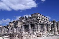 Templo de los Guerreros y de las 1000 Columnas.<br /> Zona arqueologica de Chichen Itza Zona arqueol&oacute;gica  <br /> Chich&eacute;n Itz&aacute;Chich&eacute;n Itz&aacute; maya: (Chich&eacute;n) Boca del pozo; <br /> de los (Itz&aacute;) brujos de agua. <br /> Es uno de los principales sitios arqueol&oacute;gicos de la <br /> pen&iacute;nsula de Yucat&aacute;n, en M&eacute;xico, ubicado en el municipio de Tinum YUCATAN.<br /> *Photo:*&copy;Francisco* Morales/DAMMPHOTO.COM/NORTEPHOTO<br /> * No * sale * a * third *