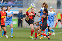 Bridgeview, IL, USA - Saturday, April 23, 2016: Western New York Flash midfielder Abigail Dahlkemper (13) during a regular season National Women's Soccer League match between the Chicago Red Stars and the Western New York Flash at Toyota Park. Chicago won 1-0.