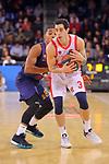 Turkish Airlines Euroleague 2017/2018.<br /> Regular Season - Round 28.<br /> FC Barcelona Lassa vs Baskonia Vitoria Gasteiz: 73-86.<br /> Phil Pressey vs Luca Vildoza.