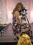 BeBe Adams walks the runway during the Nevada Humane Society's 3rd  annual Heels & Hounds event at the Atlantis Resort and Spa in Reno on April 9, 2017.