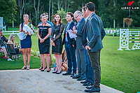 Celebrating the incredible STARS of our International Show Jumping Scene: 2018 FEI Nations Cup CSIO5* Abu Dhabi Title Winners: Bruce Goodin; Daniel Meech; Richard Gardner; Sam McIntosh - with Jaime Campbell; Kate and Mitch Plaw and Vaughn Jefferis. Takapoto Estate Show Jumping. Saturday 3 March. Takapoto Estate. Maungatautari. New Zealand. Copyright Photo: Libby Law Photography