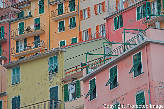 Buildings and colors in Monterosso Italy
