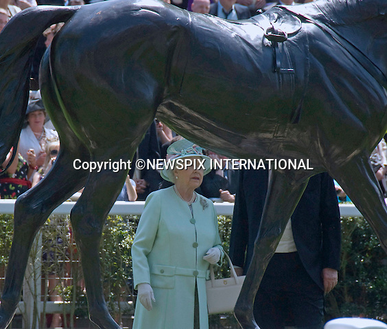"""QUEEN.on the opening day of Royal Ascot, Ascot, Berkshire 2011_14/06/2011.Mandatory Photo Credit: ©Shaw/Newspix International..**ALL FEES PAYABLE TO: """"NEWSPIX INTERNATIONAL""""**..PHOTO CREDIT MANDATORY!!: NEWSPIX INTERNATIONAL(Failure to credit will incur a surcharge of 100% of reproduction fees)..IMMEDIATE CONFIRMATION OF USAGE REQUIRED:.Newspix International, 31 Chinnery Hill, Bishop's Stortford, ENGLAND CM23 3PS.Tel:+441279 324672  ; Fax: +441279656877.Mobile:  0777568 1153.e-mail: info@newspixinternational.co.uk"""
