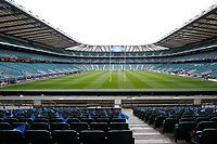 A general view of Twickenham Stadium from the stands. The Clash, Aviva Premiership match, between Bath Rugby and Leicester Tigers on April 7, 2018 at Twickenham Stadium in London, England. Photo by: Matt Impey / Wired Photos for Onside Images