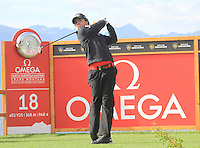 Rory McIlroy (NIR) on the 18th during the 1st day of the Omega European Masters, Crans-Sur-Sierre, Crans Montana, Switzerland..Picture: Golffile/Fran Caffrey..