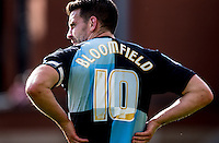 Goal scorer Matt Bloomfield of Wycombe Wanderers during the Sky Bet League 2 match between Leyton Orient and Wycombe Wanderers at the Matchroom Stadium, London, England on 19 September 2015. Photo by Andy Rowland.