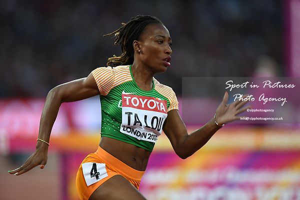 Marie-Josée TA LOU (CIV) in the womens 200m heats. IAAF world athletics championships. London Olympic stadium. Queen Elizabeth Olympic park. Stratford. London. UK. 08/08/2017. ~ MANDATORY CREDIT Garry Bowden/SIPPA - NO UNAUTHORISED USE - +44 7837 394578