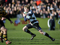 Wallace centre Nevin Spence on the attack during the Northern Bank Schools Cup Final at Ravenhill. Result Wallace 0pts R.B.A.I. 15pts.