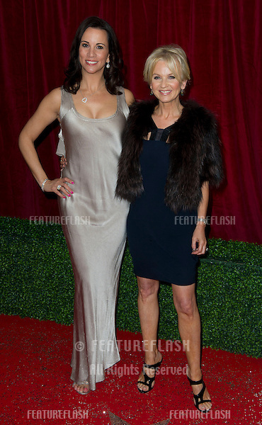 Andrea McLean and Lisa Maxwell arriving for the 2012 British Soap Awards , LWT Southbank, London.28/04/2012 Picture by: Simon Burchell / Featureflash
