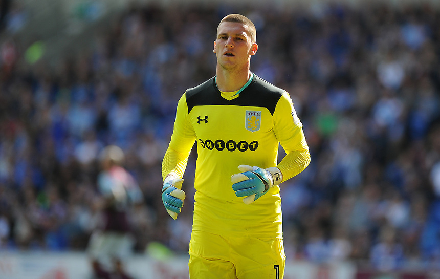 Aston Villa's Sam Johnstone <br /> <br /> Photographer Ashley Crowden/CameraSport<br /> <br /> The EFL Sky Bet Championship - Cardiff City v Aston Villa - Saturday August 12th 2017 - Cardiff City Stadium - Cardiff<br /> <br /> World Copyright &copy; 2017 CameraSport. All rights reserved. 43 Linden Ave. Countesthorpe. Leicester. England. LE8 5PG - Tel: +44 (0) 116 277 4147 - admin@camerasport.com - www.camerasport.com