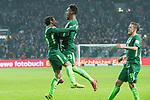 13.01.2018, Weser Stadion, Bremen, GER, 1.FBL, Werder Bremen vs TSG 1899 Hoffenheim, im Bild<br /> <br /> 1 zu 1 Theodor Gebre Selassie (Werder Bremen #23) jubel mit Zlatko Junuzovic (Werder Bremen #16) re Max Kruse (Werder Bremen #10)<br /> <br /> Foto &copy; nordphoto / Kokenge