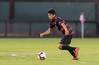 STANFORD, CA -- September 20, 2018. The Stanford Cardinal men's soccer team loses to the University of Pacific Tigers 1-0 at Laird Q. Cagan Stadium.