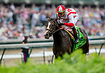 May 4, 2019 : #12 Bricks and Mortar, ridden by jockey Irad Ortiz, Jr., wins the Old Forester Turf Classic on Kentucky Derby Day at Churchill Downs on May 4, 2019 in Louisville, Kentucky. Kaz Ishida/Eclipse Sportswire/CSM