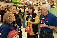 Asda Community Champion Christine Conway chats with from left Barbara Preston, Elizabeth Marden and Malcolm Ginever