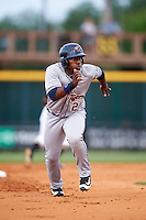 Lakeland Flying Tigers left fielder Christin Stewart (20) running the bases during a game against the Bradenton Marauders on April 16, 2016 at McKechnie Field in Bradenton, Florida.  Lakeland defeated Bradenton 7-4.  (Mike Janes/Four Seam Images)