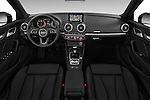 Stock photo of straight dashboard view of 2017 Audi A3-Cabriolet Design 2 Door Convertible Dashboard