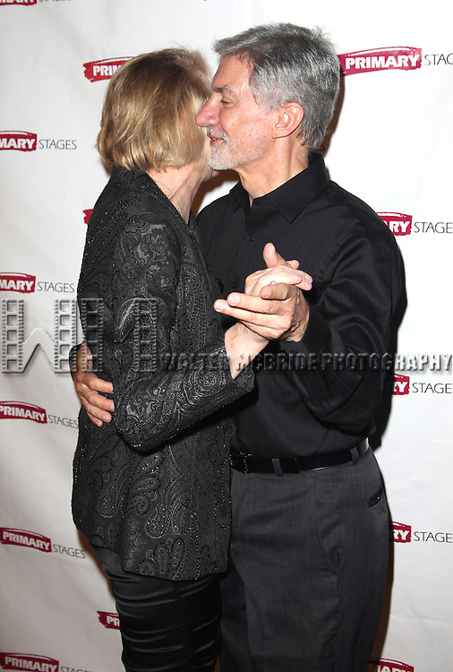 David Garrison & Julie Halston.attending the Opening Night Party for the Primary Stages Production of 'Olive and the Bitter Herbs' in New York City. ...