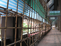 Construction using bamboo scafolding, Hong Kong