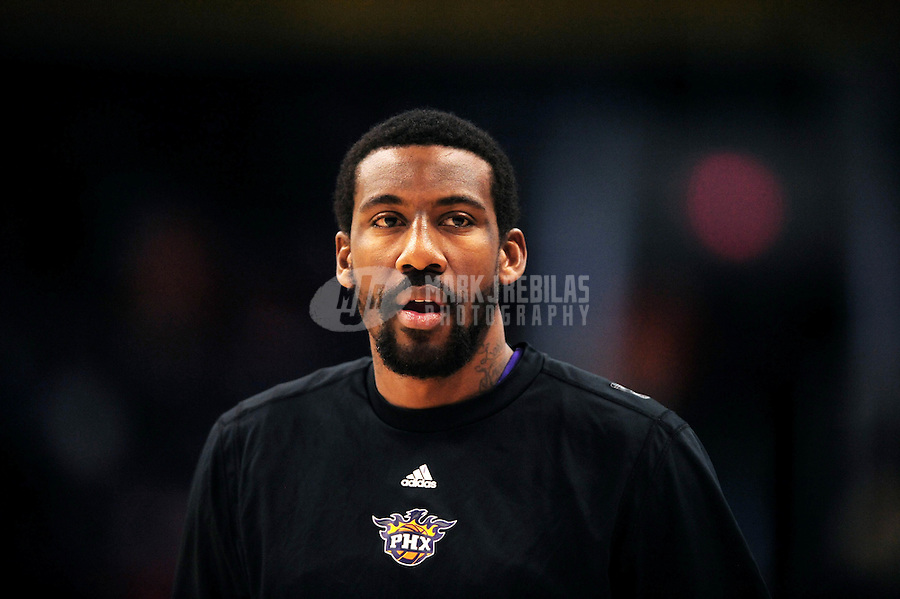 Dec. 5, 2009; Phoenix, AZ, USA; Phoenix Suns forward (1) Amare Stoudemire against the Sacramento Kings at the US Airways Center. The Suns defeated the Kings 115-107. Mandatory Credit: Mark J. Rebilas-