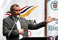 BOGOTA – COLOMBIA – 17 – 05 – 2017 Mauricio Rivas, Vicepresidente Federacion Colombiana de Esgrima, durante presentación del Grand Prix de Esgrima Bogota 2017. Cerca de 400 deportistas del mundo estarán participando en la parada prevista del 26 al 28 de mayo del presente año, en la capital de la republica, que otorgan puntos para el ranking mundial, cerca 250 hombres y 150 mujeres de 50 paises, entre los que se pueden contar a Corea, Francia, Rusia, Hungria y Estados Unidos. / Mauricio Rivas, Vicepresidente Federacion Colombiana de Esgrima, during the presentation of the Grand Prix of Fencing Bogota 2017. About 400 athletes of the world will be participating in the planned stop from May 26 to 28 of this year, in the capital of the republic, which award points for the world ranking, about 250 men and 150 women from 50 countries, including Korea, France, Russia, Hungary and the United States. / Photo: VizzorImage / Luis Ramirez / Staff.