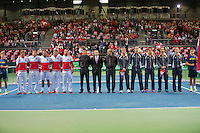 Switserland, Genève, September 18, 2015, Tennis,   Davis Cup, Switserland-Netherlands, Openings ceremony, <br /> Photo: Tennisimages/Henk Koster