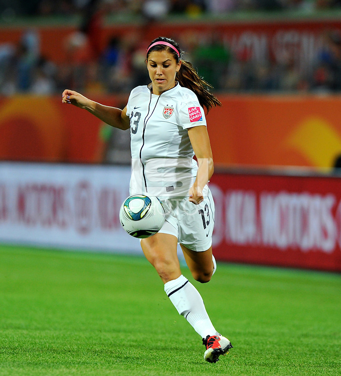 Alex Morgan of team USA during the FIFA Women's World Cup at the FIFA Stadium in Wolfsburg, Germany on July 6thd, 2011.