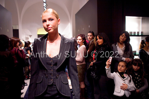 Baku, Azerbaijan .December 15, 2006..The new rich in Baku gather for a fashion show to mark the opening of an Escada store in the city center...Baku and Azerbaijan in general should benefit financially from the new oil and gas pipeline that will soon carry as much as 1 million barrels of oil a day into Europe via the Baku-Tbilisi-Ceyhan pipeline. The 1,776 km, $4 billion pipeline places the gas and oil directly into Europe by-passing Russia for the first time..