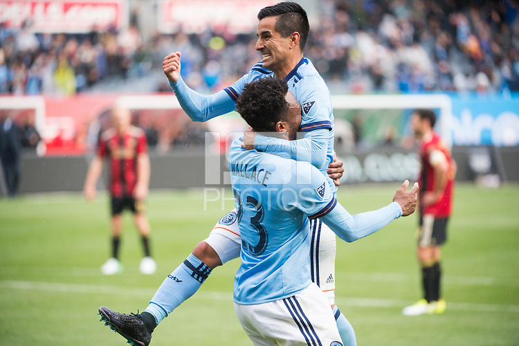 BRONX, New York - Sunday, May 7, 2017: New York City FC takes on Atlanta United at home at Yankee Stadium during the MLS regular season.