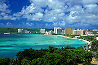 Scenic Tumon Bay is a popular tourist destination for visitors to the island of Guam.