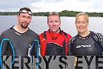 Meredith Lulling, James O'Mahony and Barbara Lehane Killarney who participated in the Dundag Masters 5km swim in Muckross Lake Killarney on Sunday
