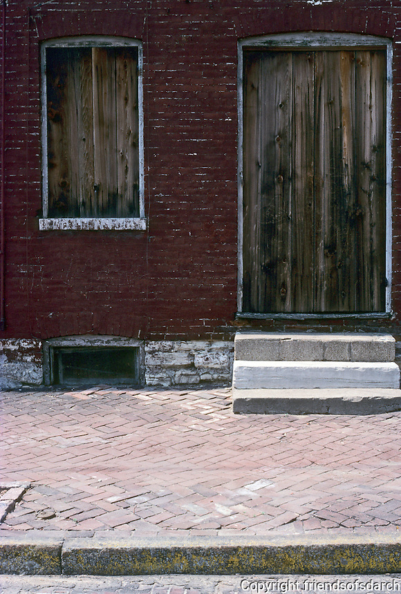 St. Louis: Soulard Neighborhood. Boarded doorway. Photo '77.