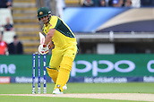 June 10th 2017, Edgbaston, Birmingham, England;  ICC Champions Trophy Cricket, England versus Australia; Aaron Finch of Australia drives the ball