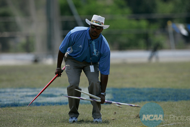 26 MAY 2007:  Athletes compete during the Division II Men's and Women's Outdoor Track and Field Championships held at the Irwin Belk Complex at Johnson C. Smith University campus in Charlotte, N.C. Grant Halverson/NCAA Photos