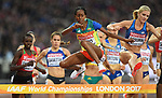 Etenesh DIRO (ETH) in the womens 3000m steeplechase heats. IAAF world athletics championships. London Olympic stadium. Queen Elizabeth Olympic park. Stratford. London. UK. 09/08/2017. ~ MANDATORY CREDIT Garry Bowden/SIPPA - NO UNAUTHORISED USE - +44 7837 394578