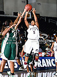 Alabama A&M Bulldogs guard Brittney Strickland (5) in action during the SWAC Tournament game between the Mississippi Valley State Devilettes and the Alabama A&M Bulldogs at the Special Events Center in Garland, Texas. Mississippi Valley State defeats Alabama A & M 52 to 51