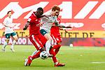 Joshua Sargent (SV Werder Bremen) im Zweikampf mit Moussa Niakhate (FSV Mainz 05), <br /> <br /> Sport: Fussball: 1. Bundesliga:: nphgm001:  Saison 19/20: 33. Spieltag: 1. FSV Mainz 05 vs SV Werder Bremen 20.06.2020<br /> Foto: Neis/Eibner/Pool/via gumzmedia/nordphoto<br /><br />DFB regulations prohibit any use of photographs as image sequences and/or quasi-video.<br />Editorial Use ONLY<br />National and International News Agencies OUT<br />  DFL REGULATIONS PROHIBIT ANY USE OF PHOTOGRAPHS AS IMAGE SEQUENCES AND OR QUASI VIDEO<br /> EDITORIAL USE ONLY<br /> NATIONAL AND INTERNATIONAL NEWS AGENCIES OUT