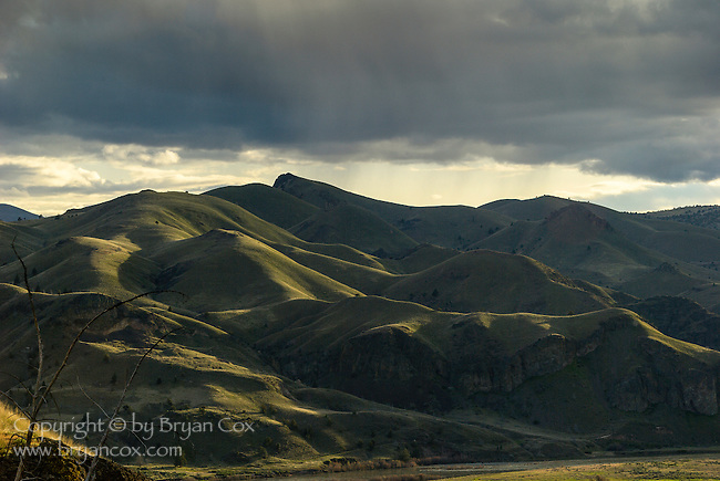 Hills along the John Day river, near Clarno, Oregon