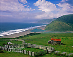 Ranch, Mouth of Mattole River, King Range National Conservation Area, Humboldt County, California
