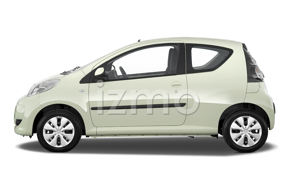 Driver side profile view of a 2009 - 2012 Citroen C1 Airplay 3-Door Hatchback.