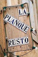 Gruissan village. La Clape. Languedoc. France. Europe.