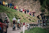 breakaway group up the Passo di Sant'Antonio<br /> <br /> stage 15: Tolmezzo – Sappada (176 km)<br /> 101th Giro d'Italia 2018