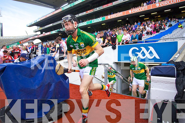 John Egan Kerry in action against \k1x\ Kildare in the Christy Ring in Croke park on Saturday.