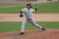 Kane County Cougars pitcher Zac Curtis (16) delivers a pitch during a Midwest League game against the Wisconsin Timber Rattlers on May 16th, 2015 at Fox Cities Stadium in Appleton, Wisconsin.  Kane County defeated Wisconsin 4-2.  (Brad Krause/Four Seam Images)