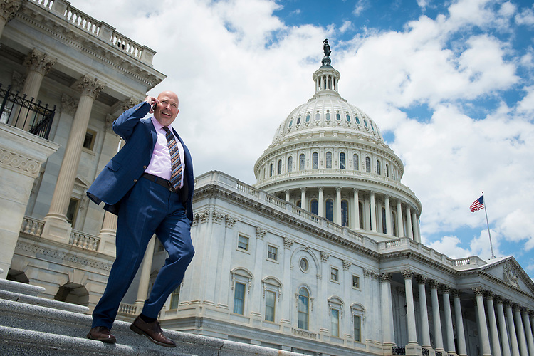 UNITED STATES – June 28: Rep. Tom MacArthur, R-N.J., leaves the Capitol after casting his last vote before the Independence Day recessThursday June 28, 2018.  (Photo By Sarah Silbiger/CQ Roll Call)