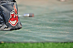 5 September 2009: A Cleveland Indians ball bag sits outside the batting cage prior to a game against the Minnesota Twins at Progressive Field in Cleveland, Ohio. The Twins defeated the Indians 4-1 in the second game of their three-game weekend series. Mandatory Credit: Ed Wolfstein Photo