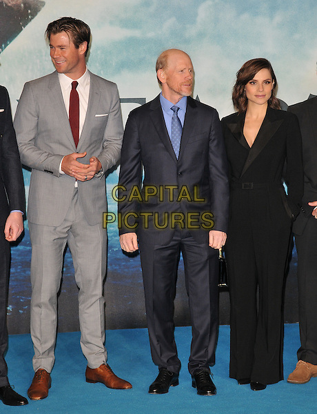 Chris Hemsworth, Ron Howard &amp; Charlotte Riley attend the &quot;In The Heart Of The Sea&quot; European film premiere, Empire cinema, Leicester Square, London, UK, on Wednesday 02 December 2015.<br /> CAP/CAN<br /> &copy;CAN/Capital Pictures